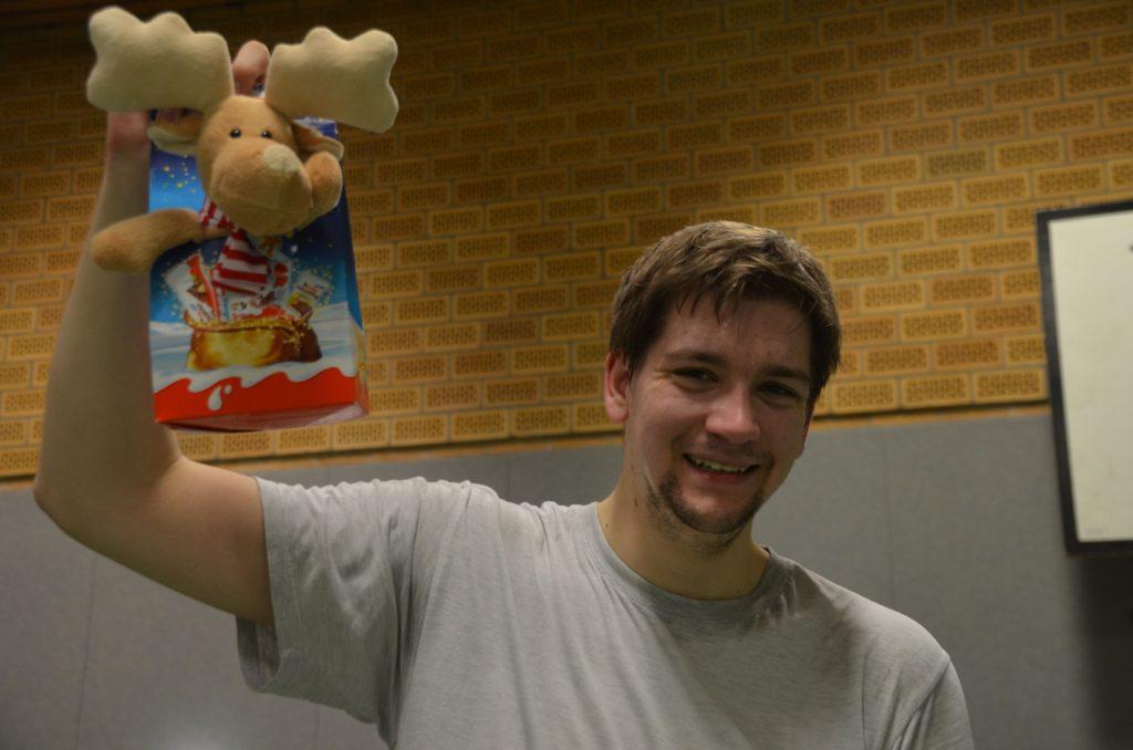 """Alex Bick, seit Januar studierend in Magdeburg, holte sich den Gesamtsieg des traditionellen """"Schleifchenturniers""""."""